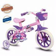 Bicicleta Infantil Nathor Aro 12 Cat Rosa Roxo Menina