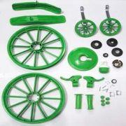 Kit Para Montagem Bicicleta Infantil Menino Aro 16 Verde
