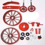 Kit Para Montagem Bicicleta Infantil Menino Aro 16 Vermelha
