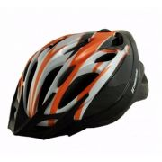 Capacete Ciclismo High One 17-10 Prata Preto Laranja M 56-58