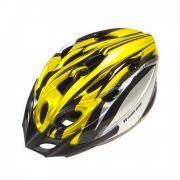 Capacete Ciclismo High One Mv18 Preto Amarelo Cinza M 56-58