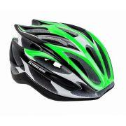 Capacete Ciclismo High One Sv85 Verde Preto Branco P 54-56