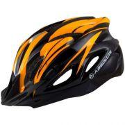 Capacete Ciclismo Absolute Wt012 C/ Pisca Laranja M 56-58