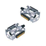 Pedal Alumínio Feimim 1/2 Rosca Fina Sueco Prata