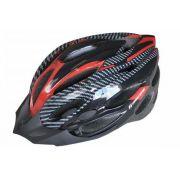 Capacete Ciclismo High One Mv263 Vermelho Cinza Pto G 58-60