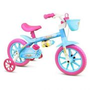 Bicicleta Infantil Nathor Aro 12 Aqua Rosa Azul Menina
