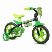 Bicicleta Infantil Nathor Aro 12 Black Preto Verde Menino