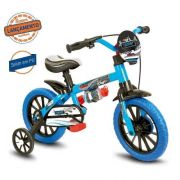 Bicicleta Infantil Nathor Aro 12 Veloz Azul Menino