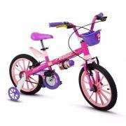 Bicicleta Infantil Nathor Aro 16 Top Girls Rosa Menina
