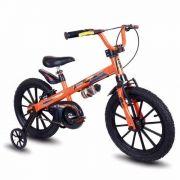 Bicicleta Infantil Nathor Aro 16 Extreme Menino Laranja Pto