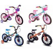 Bicicleta Infantil Nathor Aro 16 Quadro Aço Carbono