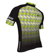 Camisa Ciclismo Masculina Oggi Agile Preto Cinza Verde