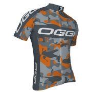 Camisa Ciclismo Masculina Oggi Strada Cinza Laranja