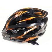 Capacete Ciclismo High One Mtb Out Mv88 Preto Laranja Fosco