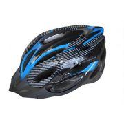 Capacete Ciclismo High One Mv262 Cinza Azul Preto