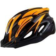 Capacete Ciclismo Absolute Wt012 C/ Pisca Laranja