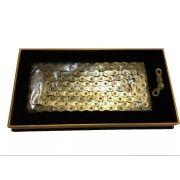 Corrente Fina Taya Tolv-121 1/2 x 5/64 - 126 elos 12 Velocidades Dourado