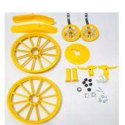 Kit Para Montagem Bicicleta Infantil Menino Aro 16 Amarelo