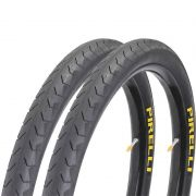 Par Pneu Pirelli 700 x 32 Phantom Street Slick Speed Bike Preto