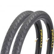 Par Pneu Pirelli 700 X 38 Phantom Street Slick Speed Bike Preto