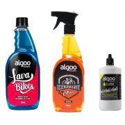 Shampoo Limpador 700ml + Desengraxante 700ml + Cera Lube 200ml Algoo