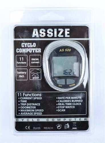 Velocímetro Ciclocomputador Ciclismo 11 Funções As520 Assize