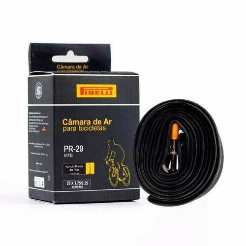 Câmara Ar Pneu Pirelli 29 X 1.75/2.35 Válvula Presta Bico Fino