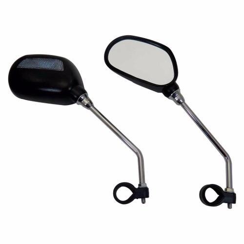 Espelho Retrovisor Jy-102 Com Refletor Para Bike Bicicleta