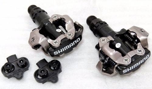Pedal De Encaixe Clip Shimano Pd-m520 Com Taquinhos Preto