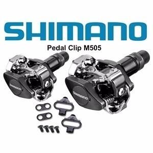 Pedal De Encaixe Clip Shimano M505 Com Taquinhos