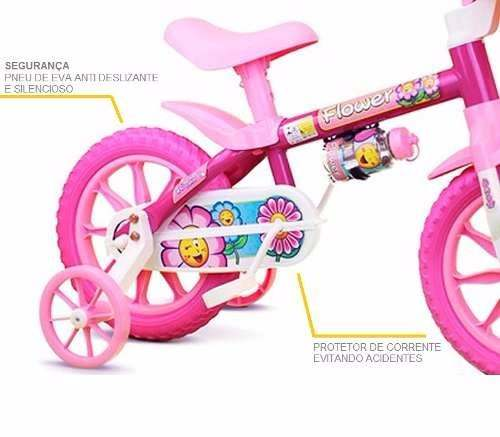041d984da ... Bicicleta Infantil Nathor Aro 12 Flower Rosa Menina - Loyal Bike ...