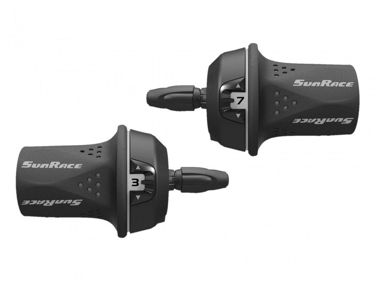 Alavanca Câmbio Sunrace M21 Rotativa Grip Shift 21v 3x7v