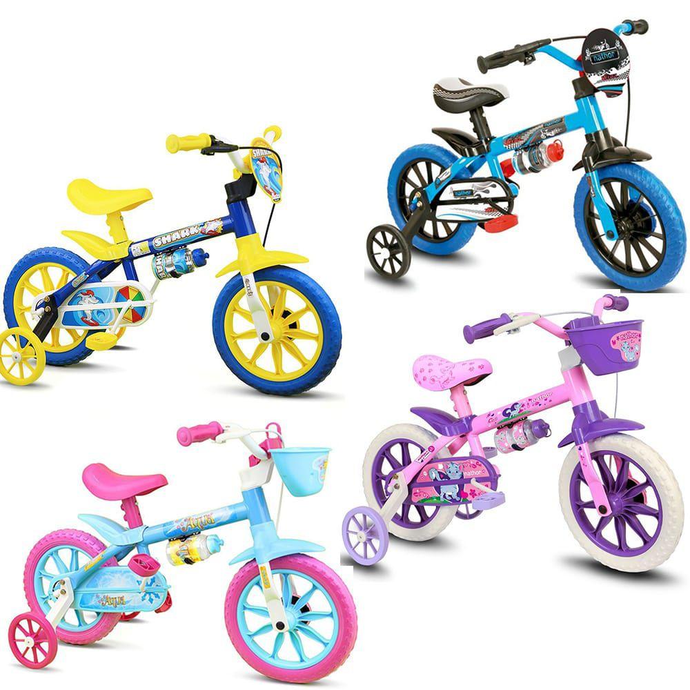 Bicicleta Infantil Nathor Aro 12 Quadro Aço Carbono