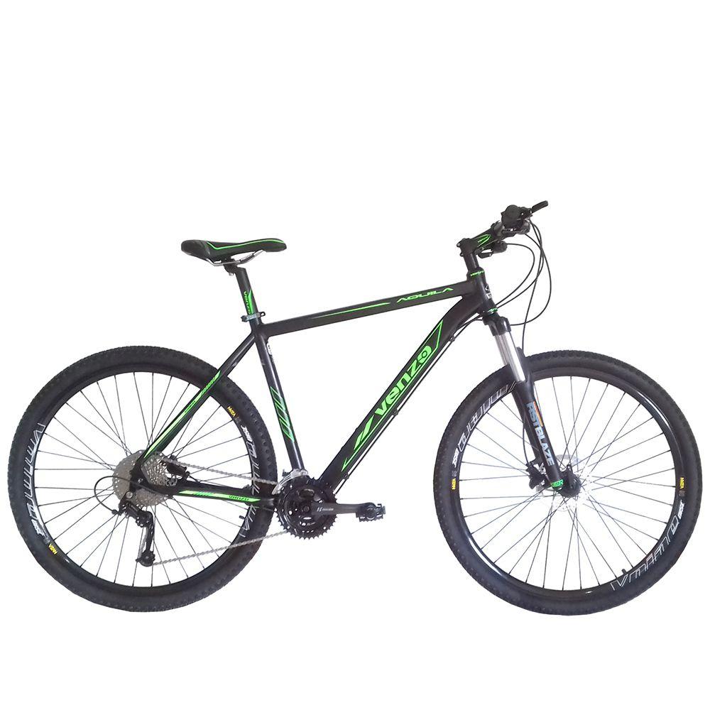 Bicicleta Aro 29 Venzo Aquila 29 Freio Hidráulico 27v High One Garfo Preload