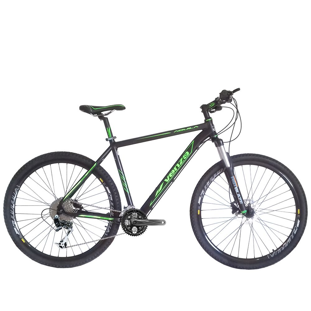 Bicicleta Venzo Aquila 29 Freio Hidráulico 27v SunRace Garfo Preload