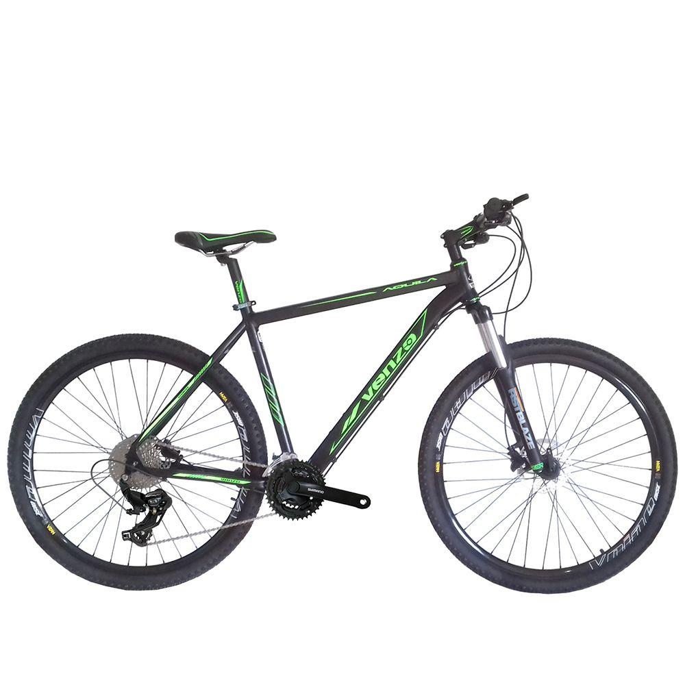 Bicicleta Venzo Aquila 29 Freio Mecânico 24v Shimano Tourney Tx Garfo Trava Preload