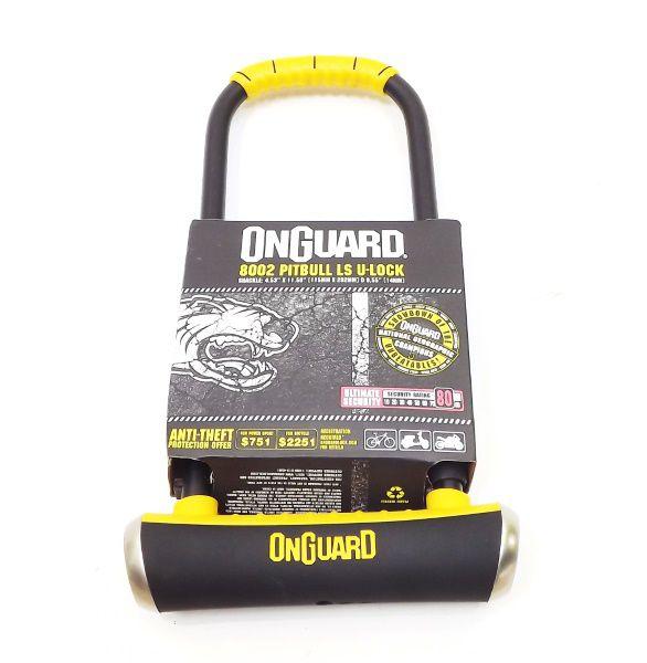 Cadeado Onguard Pitbull Ls U-lock Chave Preto 8002 - A1225