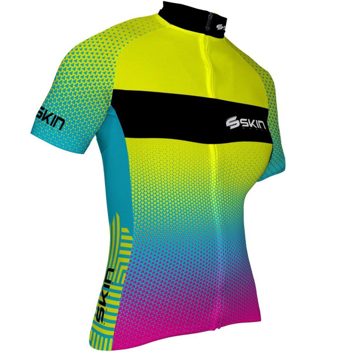 Camisa Ciclismo Feminina Skin Vênus Amarelo Azul Rosa - Loyal Bike ... 00066c87e61aa