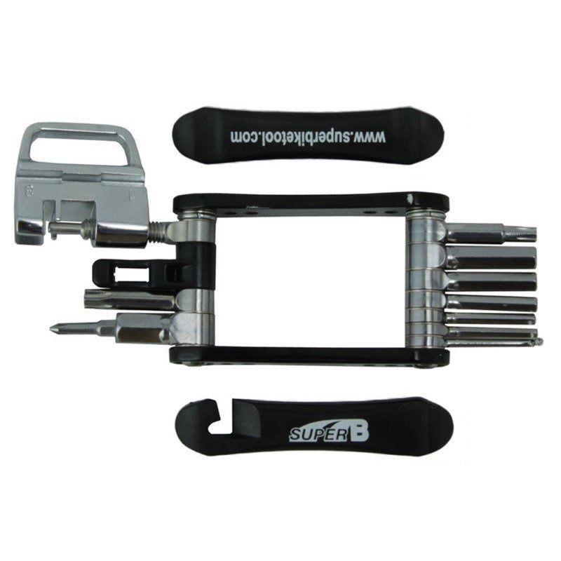 Canivete De Chaves 18 Funções Super B Ciclismo Tb-fd20 Preto