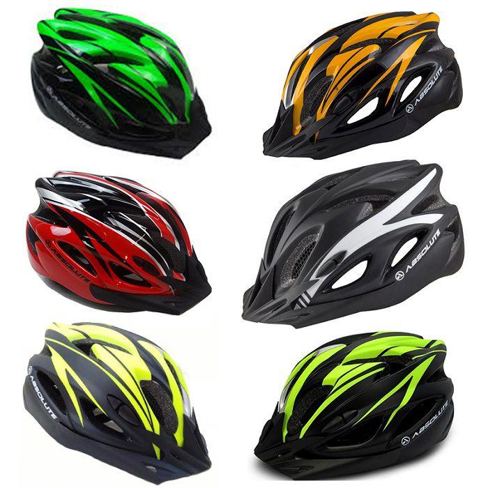 Capacete Ciclismo Absolute Nero Wt012 Viseira Pisca