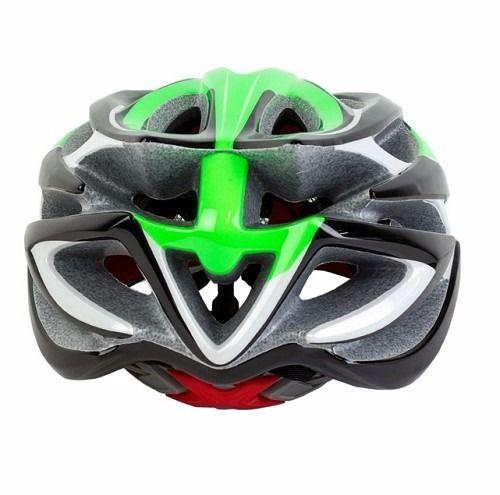 Capacete Ciclismo High One Sv85 Verde Preto Branco