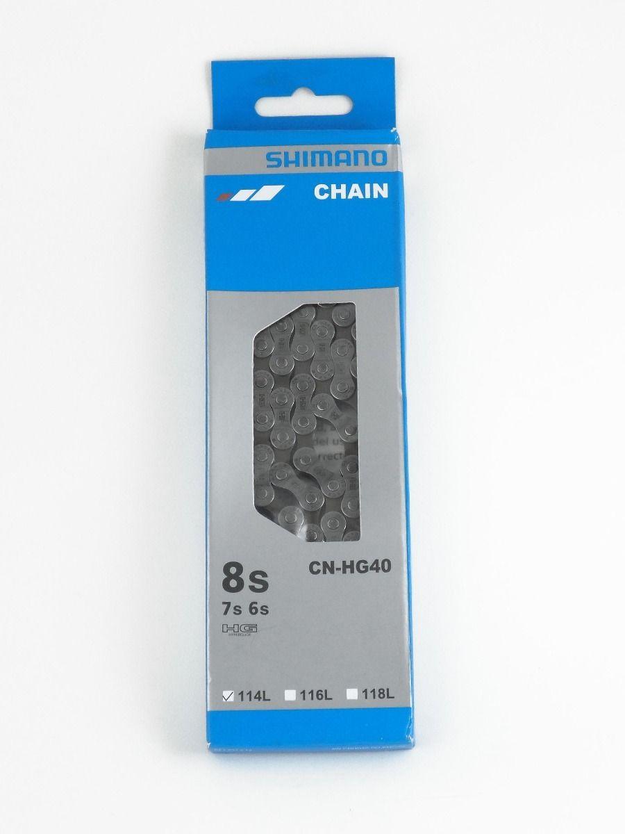 Corrente Shimano Cn-hg40 6v 7v 8v 114 Elos Indexada