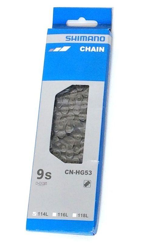 Corrente Shimano Cn-hg53 114 Elos 9v Deore Alívio Acera