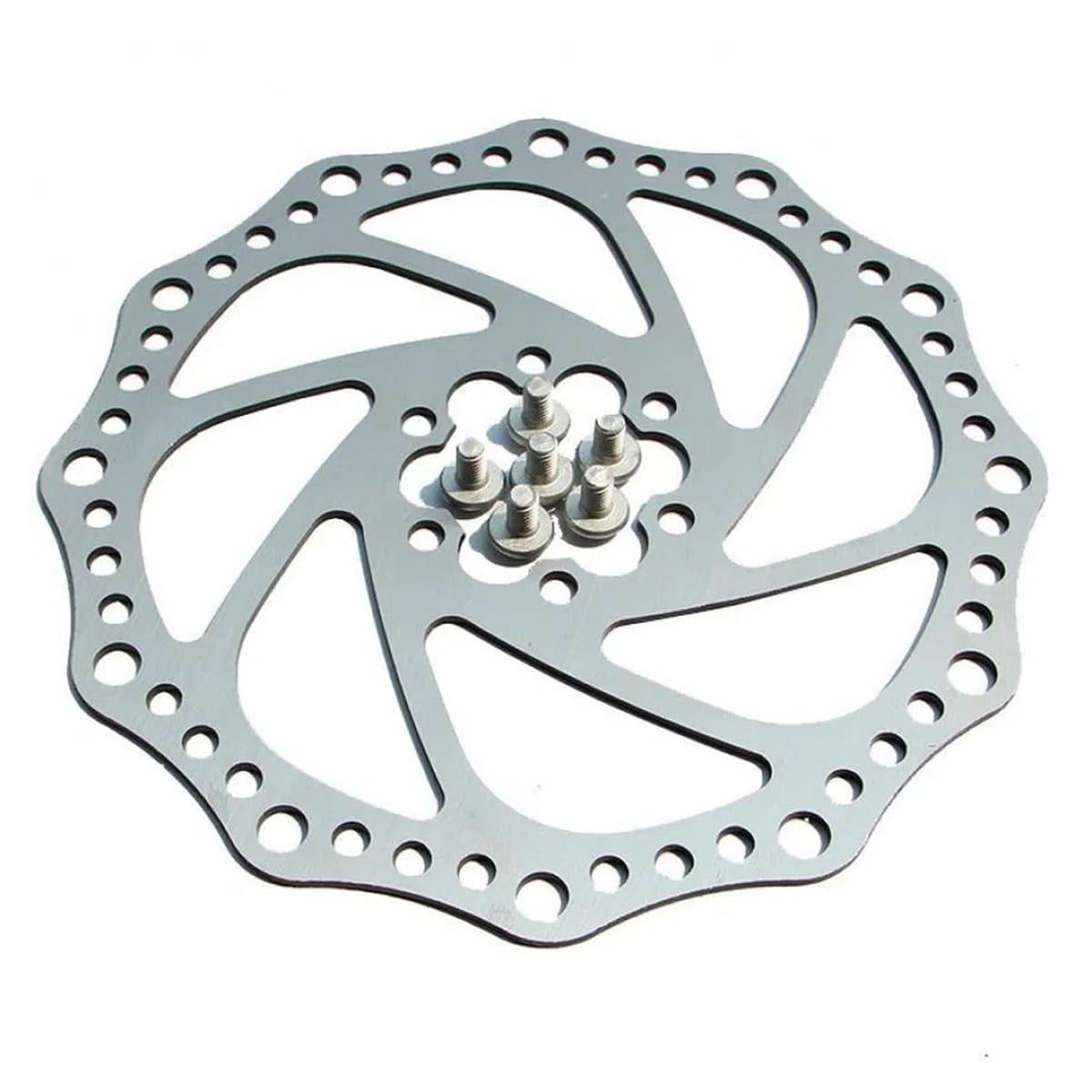 Disco Rotor Absolute 180mm 6 furos Cromado