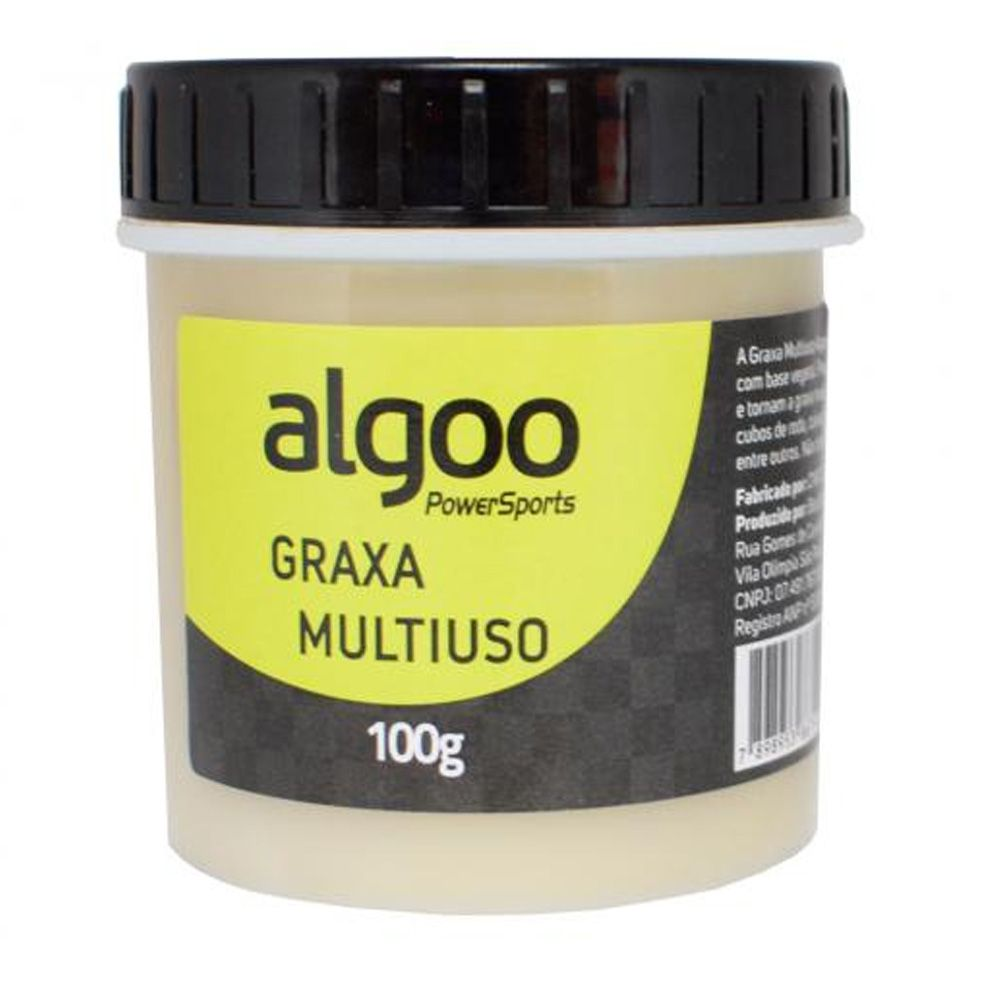 Kit Cera Lube 200ml + Desengraxante 1l + Graxa Multiuso Limpeza e Lubrificação Algoo