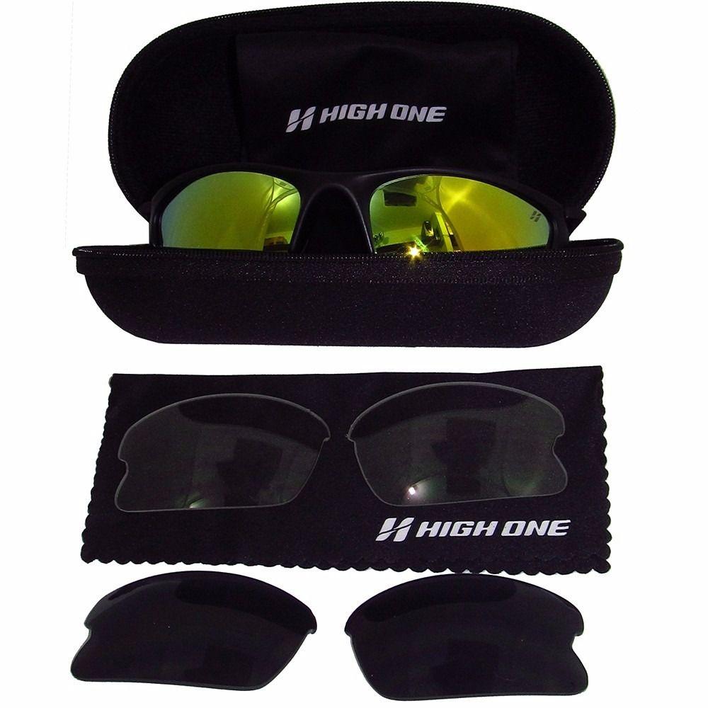 Óculos Ciclismo Esportivo Kit 3 Lentes Uv400 High One