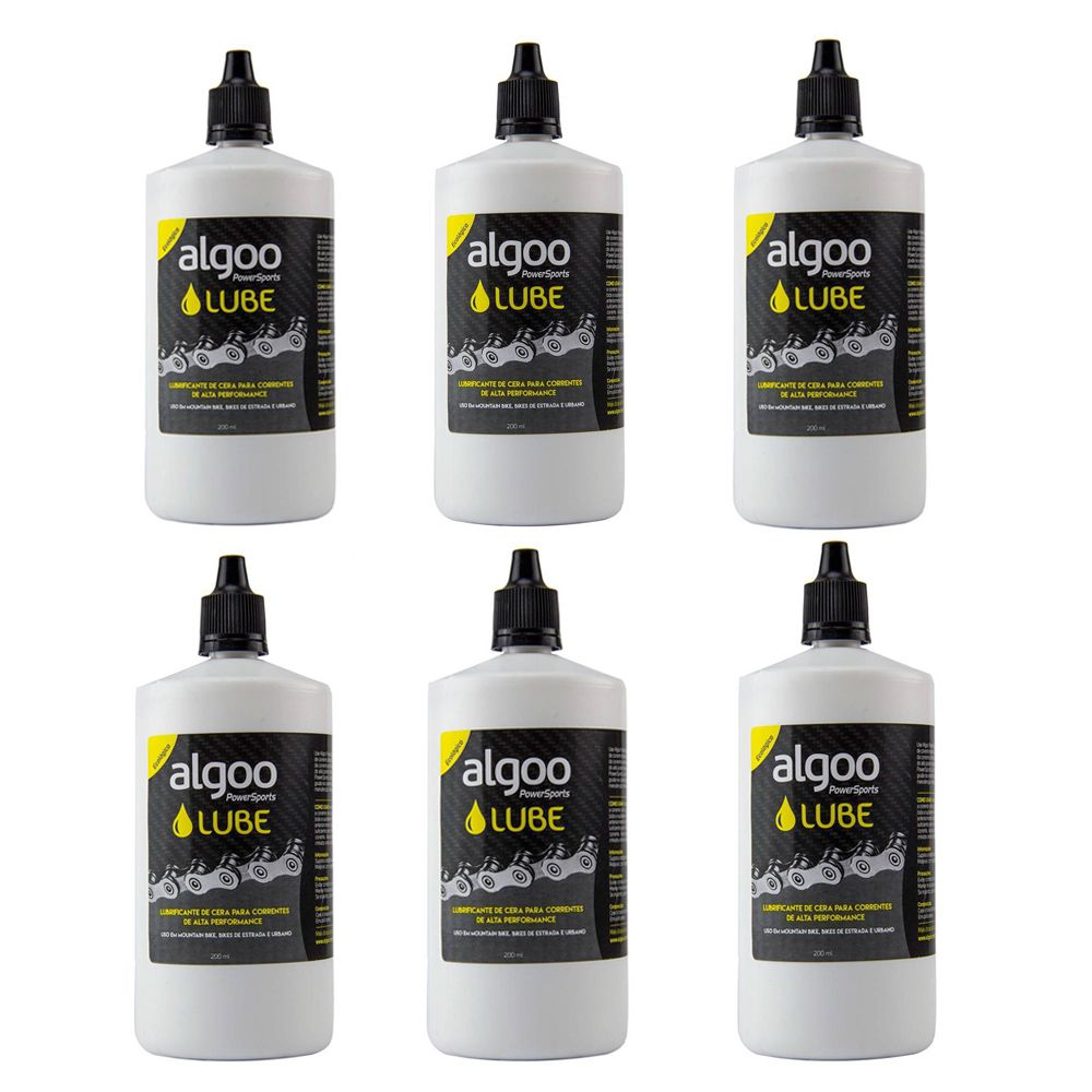 Óleo Lubrificante Algoo Lube Cera 200ml Kit 6 Unidades Power Sports