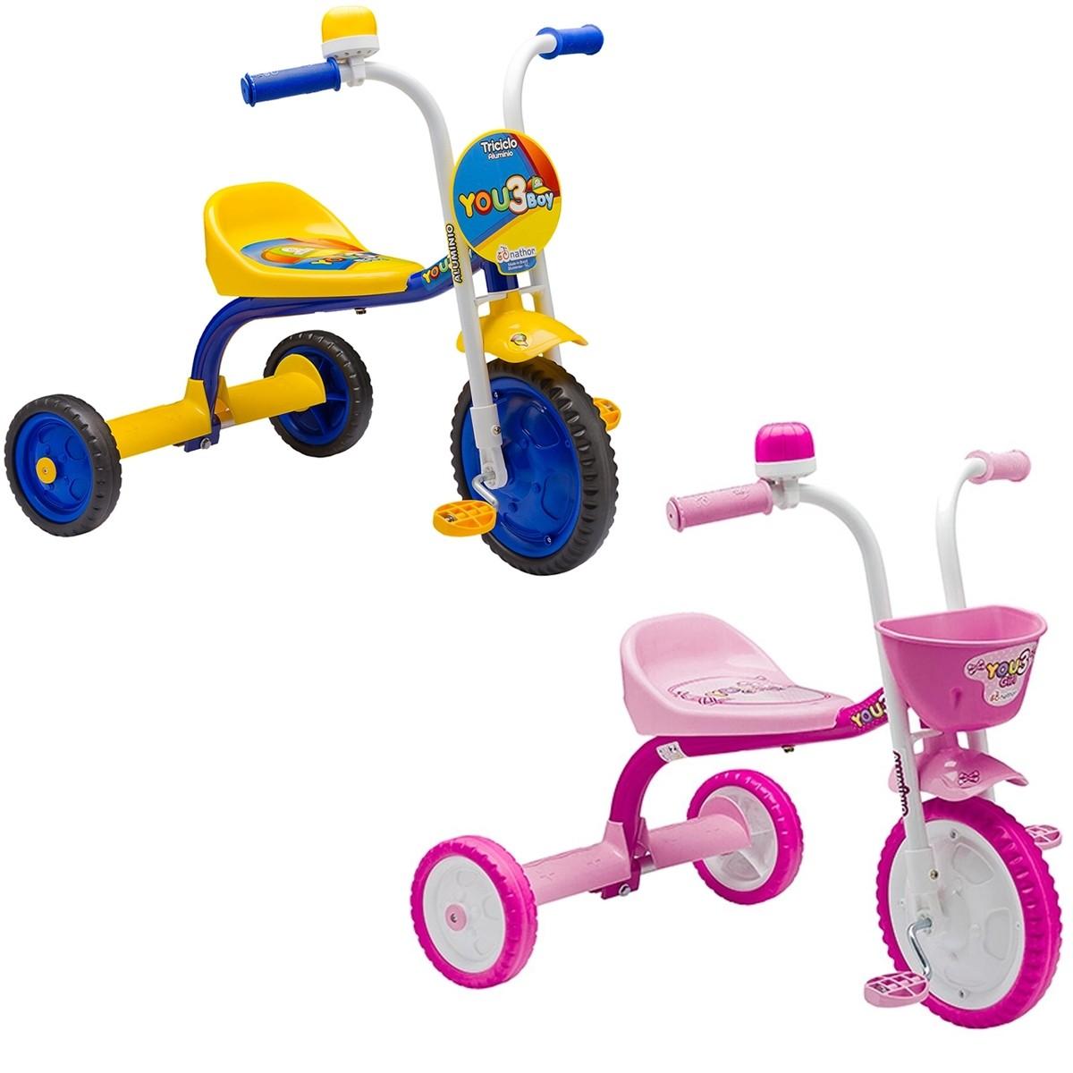 Triciclo Infantil Nathor You 3 Alumínio Buzina Aro 5
