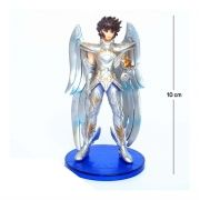 Action Figure CDZ Seiya Cavaleiro Deus 10CM PVC Base Azul Escura
