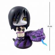 Action Figure Chibi Naruto Orochimaru com Cobra 4CM PVC